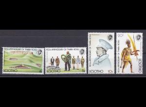 Lesotho 1974, Nr. 170-73, Gründung von Thaba-Bosiu, Makoanyane, der Krieger