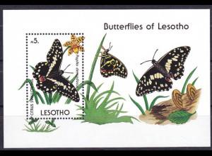 Lesotho 1990, Block 71, Schmeterling, Papilio demodocus, Butterflies of Lesotho
