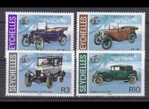 Seychellen, Nr. 597-600, Ford Modell T, Austin Seven, Morris Oxford, Humber