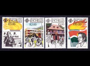Seychellen, Nr. 690-93, Progressive Volksfront, Präsident Ansprache, Flagge