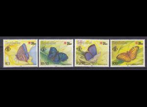Seychellen, Nr. 747-50, Schmetterlinge: Precis rhadama ... siehe Beschreibung!