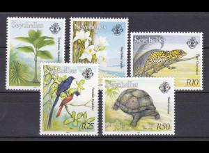 Seychellen, Nr. 765-75 II (5 Were, siehe Bild), Freimarken Fauna und Flora