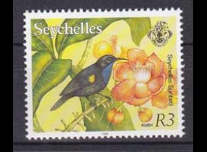 Seychellen, Nr. 768 IV, Freimarken Fauna und Flora, Seychellennektarvogel