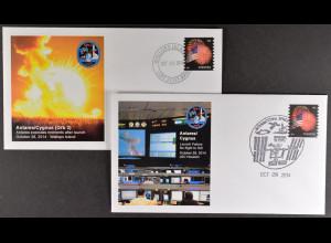 Raumstation ISS 28.10.2014 3. Start des Cygnus-Frachtraumschiffs Briefe