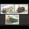 Luxemburg 2005 Michel Nr. 1670-72 Historische Eisenbahnen AL-T3 6114, PH408