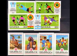 Fußball Afrikameisterschaft Ghana Internationales Jahr des Kindes 2 Sätze