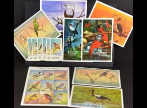 Geierrabe Andenbartvogel Vögel aus Ghana 1 Satz 7 Blöcke 1 Bogen