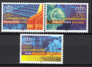 Luxemburg 2003 Michel Nr. 1615-17 Luxemburgische Erzeugnisse I kpl. Satz