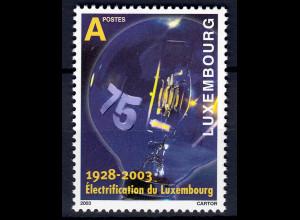 Luxemburg 2003 Michel Nr.1610 75. Jahre landesweite Elektrifizierung