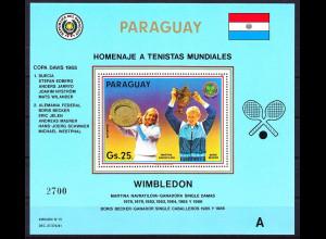 Paraguay 1986, Tennisspieler: Navratilova / Becker, Block 437