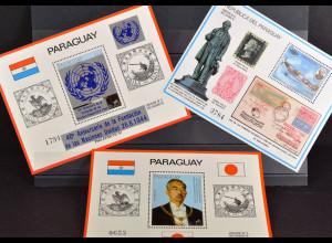 Paraguay, Politik, 3 Blockausgaben aus den Jahren 1980-84