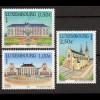Luxemburg 2003 Michel Nr. 1601-03 Sehenswürdigkeiten u.a. St.-Joseph-Kirche