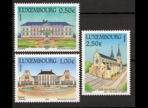 Luxemburg 2003 Michel Nr. 1601-03 Sehenswürdigkeiten St.-Joseph-Kirche