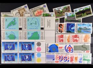 Mikronesien, 8 komplette Sätze aus JG 1984-89, verschiedene Motive, siehe Bilder