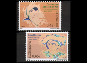 Luxemburg 2003 Michel Nr. 1599-00 Bedeutende Frauen Frauenrechtlerin