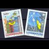 Luxemburg 2002 Michel Nr.1590-91 Kinder- u.Jugend-Malwettbewerb-Post i.50 J.