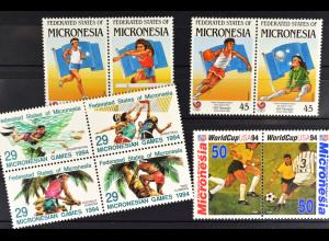 Mikronesien, Sportausgaben aus JG 1988-94, 3 komplette Sätze, siehe Bilder