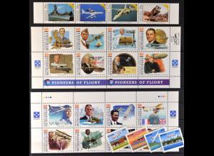 Mikronesien, Weltraum und Luftfahrt aus JG 1990-96, 4 kpl. Sätze, siehe Bilder