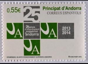 Andorra spanisch 2015 Michel Nr. 425 25 Jahre Superior Lehre