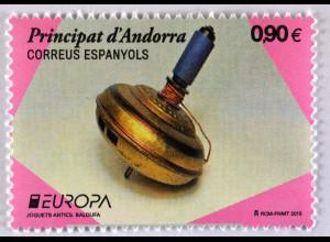 Andorra spanisch 2015 Michel Nr. 426 Altes Spielzeug Europa Kreisel