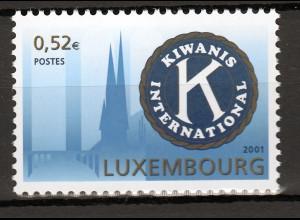 Luxemburg 2001 Michel Nr. 1558 Kiwanis Internantional Kiwanis-Emblem