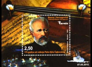 Bosnien Herzegowina 2015 Block 52 175. Jahrestag Tchaikovsky