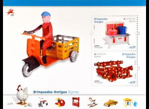Azoren 2015 Block 58 Europa Altes Spielzeug Block Puppenküche Holzwagen