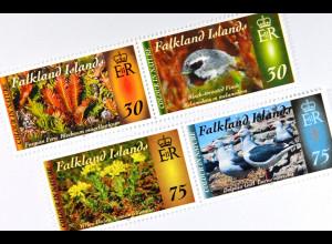 Falkland-Inseln 2015 Nr. 1270-73 Farben der Natur Flora und Fauna.