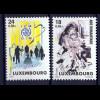 Luxemburg 2001 Michel Nr. 1535-36 Humanitärer Einsatz Hilfsaktion in Kosovo