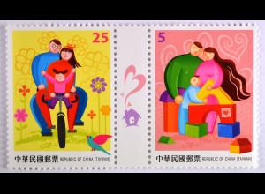 Taiwan Formosa 2015 Michel Nr. 3997-4000 Taipei Briefmarkenausstellung Familie