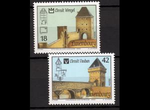 Luxemburg 2000 Michel Nr. 1512-13 UNESCO Welterbe Wenzel- und Vauban Rundweg