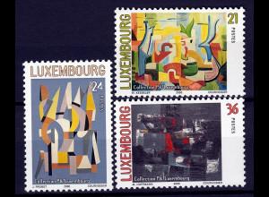 Luxemburg 2000 Michel Nr. 1509-11 Gemälde aus der Kunstsammlung der Lux.Post