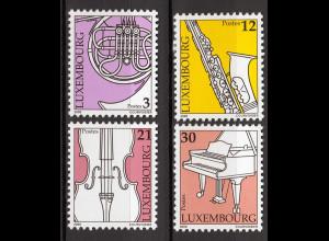Luxemburg 2000 Michel Nr. 1499-1502 Musikinstrumente Horn Saxophone
