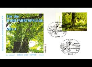 BRD Ersttagsbrief FDC Nr. 2986 Wohlfahrt: Blühende Bäume skl. 2013 aus MH