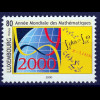 Luxemburg 2000 Michel Nr. 1497 Internationals Jahr der Mathematik GLOBUS