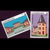 Luxemburg 2000 Michel Nr. 1495-96 **, Sehenswürdigkeiten, Schloss Walferdingen