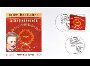 Bund Ersttagsbrief FDC Nr. 2997 Allgemeiner Deutscher Arbeiterverein 2013