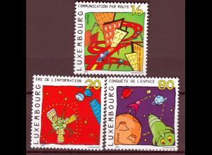 Luxemburg 1999 Michel Nr. 1481-83 Unterwegs in Richtung Zukunft Cartoons