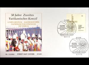 Bund BRD Ersttagsbrief FDC 2012 Nr. 2958 50 Jahre Zweiter Vatikanischer Konzil