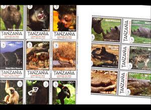 Geschütze Tierarten Spitzmaulnashörner Fingertier Giraffe Wasserbock 2 Klb.