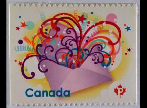 Kanada 2. Februar 2009, Michel Nr. 2533, Grußmarke, Abb.: Briefumschlag
