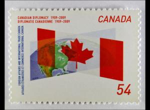 Kanada 2009 Michel Nr. 2552 100 Jahre Außenministerium