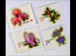 Kanada 2010 Nr. 2606-09 Freimarken Orchideen Corallorhiza striata