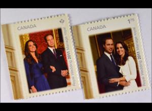 Hochzeit von Prinz William und Catherine Middleton Briefmarken aus Kanada