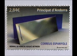 Andorra spanisch 2015, Michel Nr. 427, Biennale von Venedig / Roque, 1 Wert