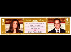 Geburt des königlichen Babys von Kate und William Briefmarken