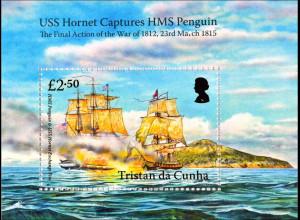 Tristan da Cunha 2015 Block 71 Segelschiffe USS Hornet Captures