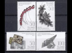 Island 2015 Mi.-Nr. 1455-58 Isländisches zeitgenössisches Design Schmuck