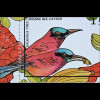 Karminspint Merops nubicoides Kuhreiher Bubulcus ibis Steppenzebra 2 Blöcke