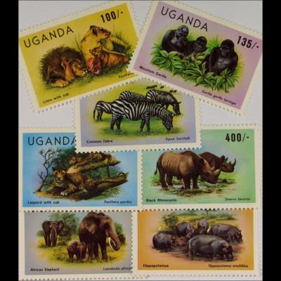 Fauna Wildtiere der Savanne Afrikanischr Löwe Berggorilla siehe Bilder